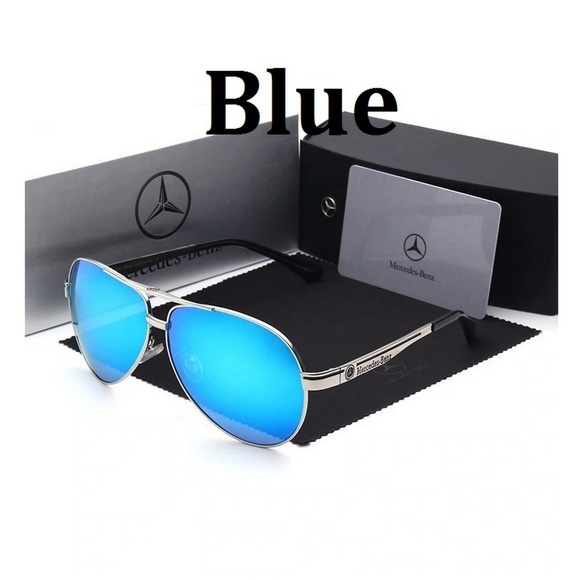 26b70de78f7 Mercedes Benz Aviator Sunglasses Military Silver